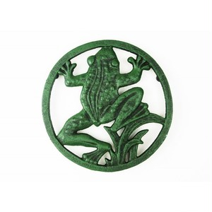 鍋敷き 鉄蛙 緑カエル pt-64g-1711
