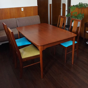 EXTENSION DINING TABLE & CHAIR