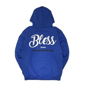 BLESS EMBROIDERY HOODIE(9oz) /BLUE