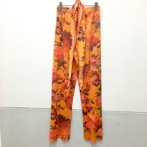 flower accordion pleats pants