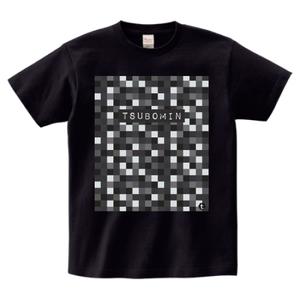 TSUBOMIN / MOSAIC LOGO T-SHIRT BLACK