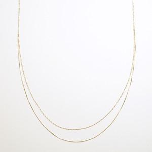 Legato drape long necklace(gold)