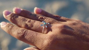 Arrows Turquoise Ring