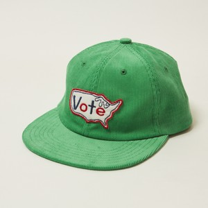 """VOTE USA"" CORDUROY CAP - GREEN"