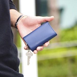 小さいコンパクトなお財布 TINY KEY WALLET タイニーキーウォレット <ネイビー>革財布
