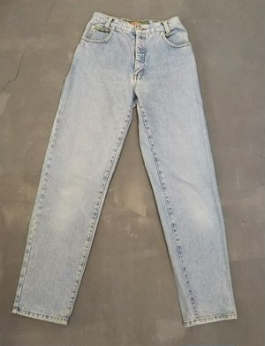 Ice blue slim denim pants [K-1593]