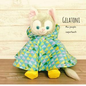 ジェラトーニ他兼用で♡レインポンチョ&長靴セット*北欧テキスト*フード付き*雨や濡れるショーにぴったり♪
