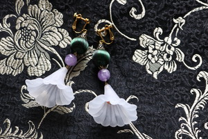 pierce/earring 翻してドレス green