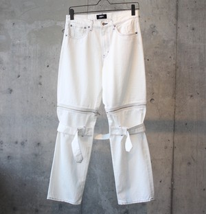 DENIM BONTAGE PANTS / WHITE