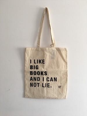 I LIKE BIG BOOKS AND I CANT NOT LIE コットンエコバック