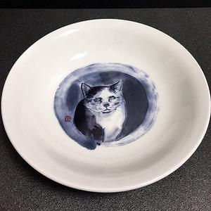 墨絵深小皿