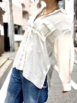 【DUST AND ROCKS】Sheer Shirt