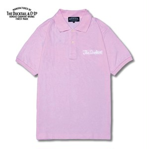 """DUCKTAIL CLOTHING """"PARADISE POLO"""" LIGHT PINK ダックテイル クロージング ポロシャツ"""