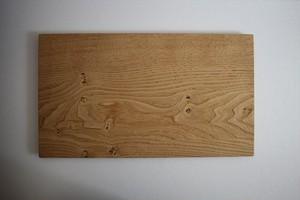 松下由典|木のトレー特大 栗材 節あり ②