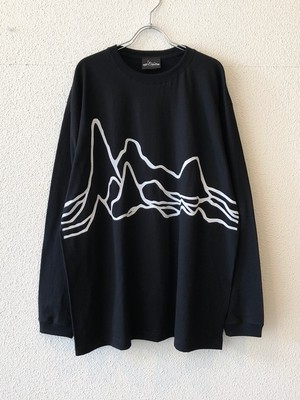 "【19014】LONG SLEEVE BIG Tee ""LARGE PULSAR"" (BLACK)"