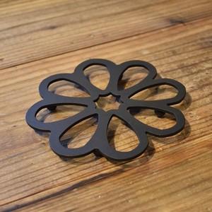 花型の鉄の鍋敷き Te-N001 <再入荷>