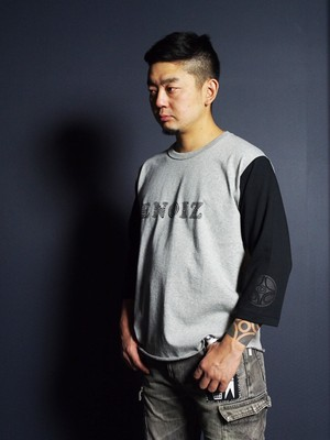 Jomon 3/4 Tee Type1 Gray/Black
