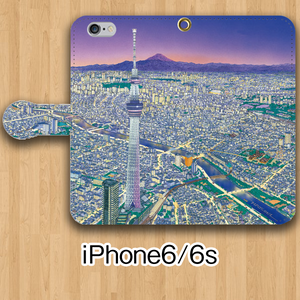 【受注生産】パノラマ「浅草・夜景」iPhone6/6s用 手帳型ケース