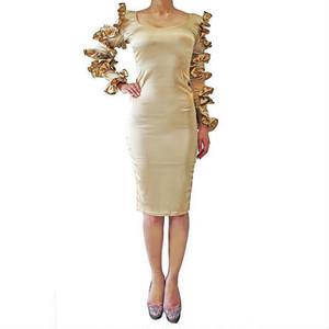 CARMEN LONG DRESS GOLD