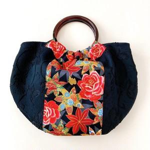 和鞄(紅葉と薔薇牡丹)