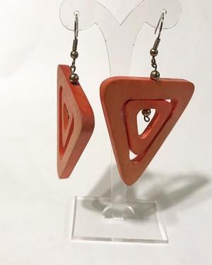 Vintage wood pierced earrings ( ヴィンテージ  ウッド ピアス )