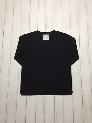 side binder long sleeve shirt / black