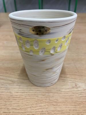 常滑焼 憲児陶苑 練り込みフリーカップ 黄色