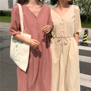 【お取り寄せ商品】cotton high waist one-piece 6333