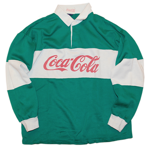 """Coca Cola"" Vintage Sweat Rugby Shirt Used"