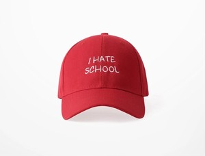 [COOL]I hate schoolデザインキャップ 2カラー