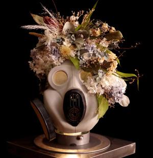 """over"" Gas Mask Smoke white"