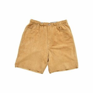 WEST OVERALLS Suede Easy Shorts Camel 19SWPT04S