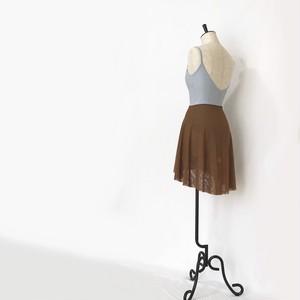 ◆Minimalist Ballet Skirt: CHOCO BROWN (ミニマリスト・プルオンバレエスカート(チョコブラウン))