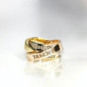 K18 TRIPLE RING_WHITE GOLD,YELLOW GOLD,PINK GOLD / K18トリプルリング