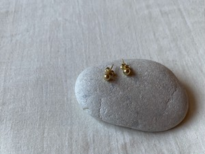 <vintage silver925>petit gold ball pierce