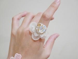 【リング.18】phantomFLOWER crystal