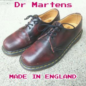 【イングランド製】ドクターマーチンDR MARTENS/ビンテージ/ヴィンテージ/1461/スムースレザー/3ホール/ギブソンシューズ/3 EYE GIBSON SHOES/ポストマンシューズ/革靴/短靴/8/27/27.5/