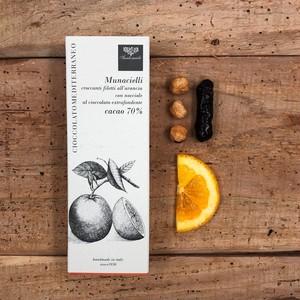 【チョコレート:オレンジピール&ヘーゼルナッツ(50g)】Cioccolato con arancia e nocciola