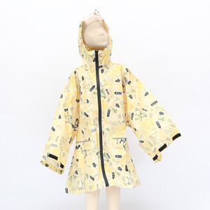 [KiU×NAC]SLEEVE RAIN PONCHO FOR KIDS / YELLOW