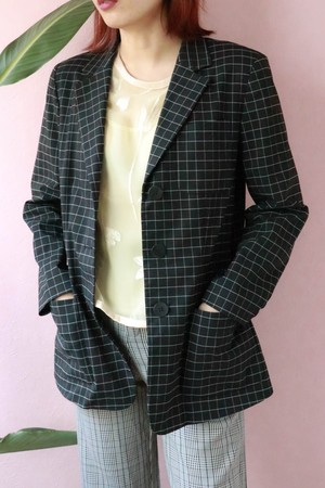 DKNY tattersall check check jacket