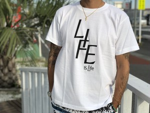 LIFE is life ロゴtシャツ (White)¥2990+tax