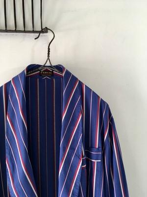 1960~70's Vintage French Stripe Gown(1960~70年代頃フランス 配色が美しいストライプ柄のガウン)