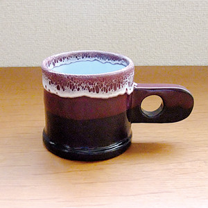 "Echo Park Pottery ""Mug"" Purple×Black"