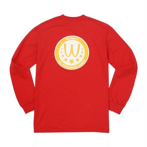 WHIMSY / POISONOUS GAME L/S TEE -RED-