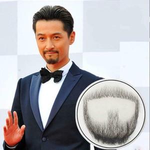 付け髭 No.4 人毛100% 髪製髭 ウィッグ 職人手作り品です。