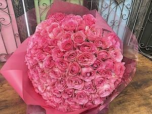 B0604) プロポーズ バラの花束 ピンクバラ108本