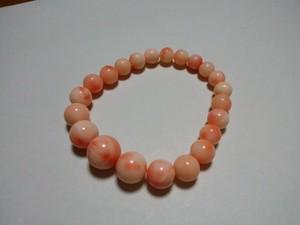桃珊瑚 ブレスレット