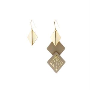 Leather & Metal Hooks - Diamond Shape Beige