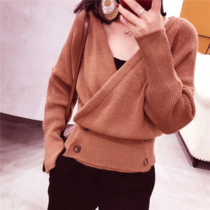 【トップス】ファッション秋冬セレブ気質合わせやすい無地セーター23012342