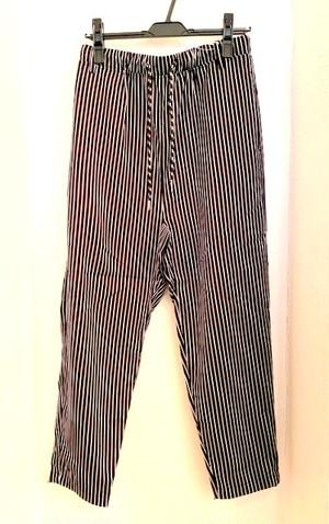 Stripe Pattern Tapered & Easy Design Pants Black